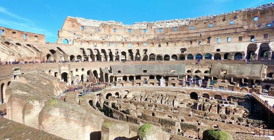 Rome Tours inside Colosseum II