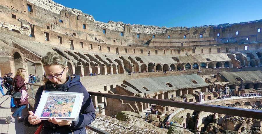 Rome Tours inside Colosseum
