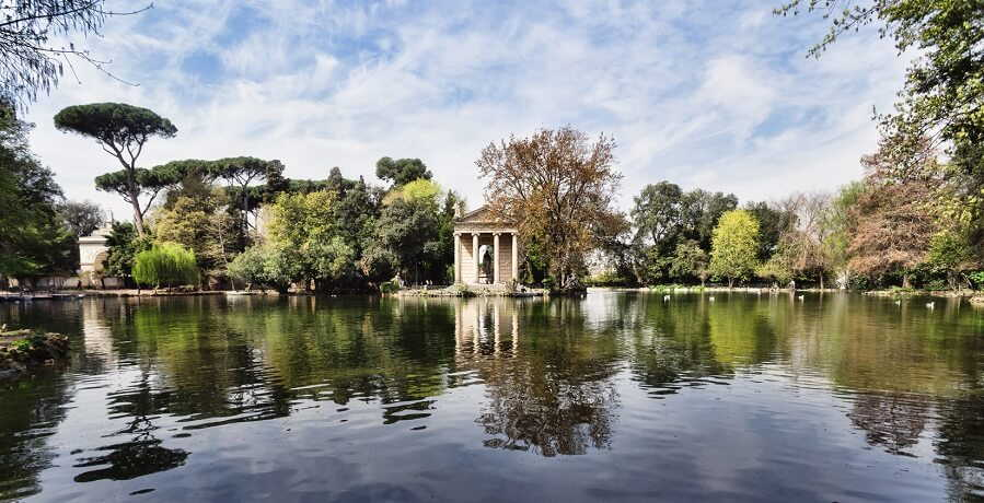 borghese gallery gardens and lake